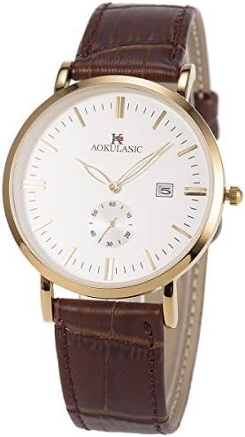 SIBOSUN Wrist Watch Men Japanese Quartz Thin Slim Waterproof Business Casual Date
