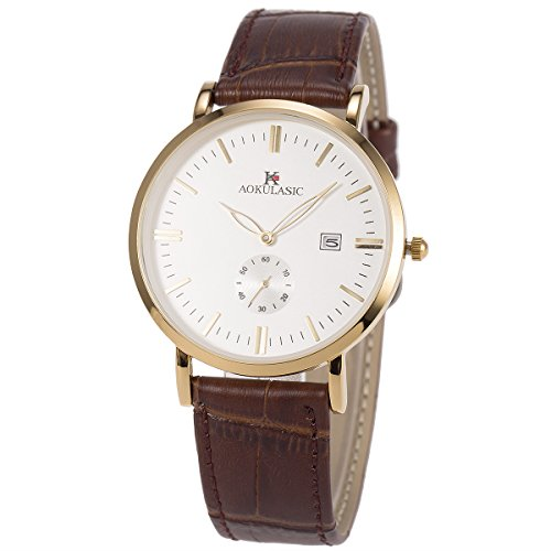 SIBOSUN Wrist Watch Men Japanese Quartz Genuine Leather Ultra-Thin Slim Waterproof Business Casual Date