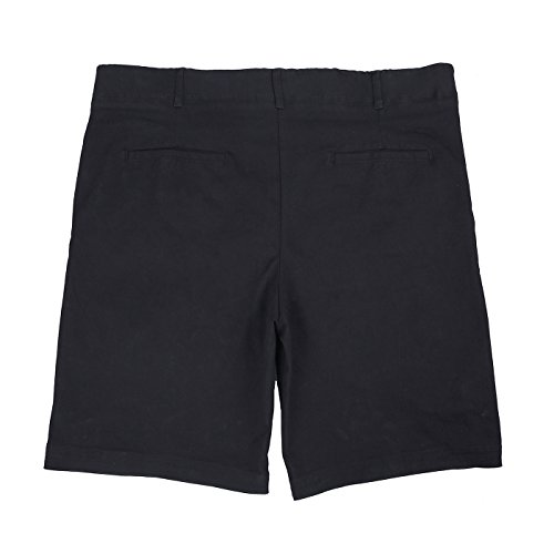 HDE Mens Big and Tall Shorts Comfort Waist Classic Fit Twill Cotton Blend Chino (Black, 46) by HDE (Image #2)