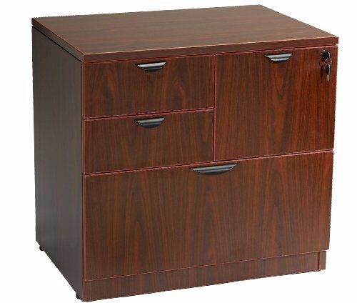 Boss Office Products N114-M Combo Lateral File in Mahogany