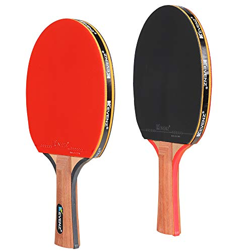 Best Price! KEVENZ Patent Advanced Table Tennis Racket Come with Anti-Skid Handle, Wooden Blade Surr...