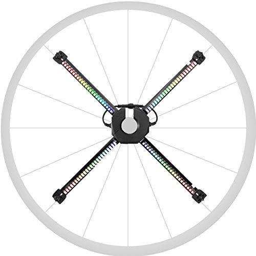 [해외]【 1 년 보증 】 LED 휠 라이트 XuanWheel X1: 더블 크로스 한 RGB LED로 화려한 그래픽을 휠에 표시! 스마트폰 앱에서 오리지널 애니메이션 이미지도 만들 수 / 【One year warranty】 LED Wheel Light XuanWheel X1: Display colorful graphics on...