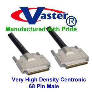 SCSI Cable, VHDCI SCSI (SCSI-5) LVD/SE Cable - .8mm 68-pin VHDCI Male to Male (3 Ft) by Vaster