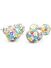 pack of 6 ceramic rainbow handpaint decorative door knobs pulls for cabinet girls dresser