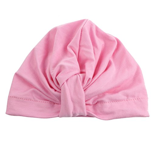 unisex-baby-hat-infant-baby-girls-cotton-turban-headband-beanie-hat-with-bow-pink-bohemia