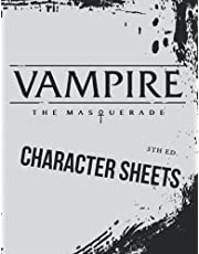 VAMPIRE The Masquerade 5th Edition - A4 - Character sheet: Character sheets prepared for writing on them.