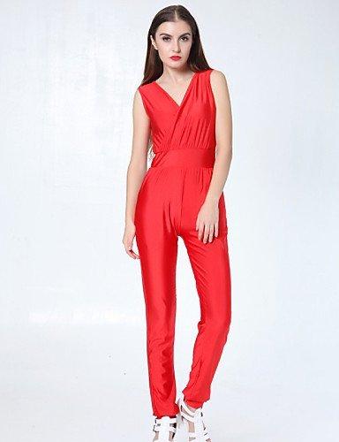 GSP-Damen Jumpsuits - Sexy Ärmellos Polyester Mikro-elastisch