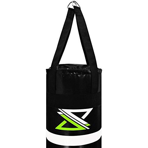 "ADii ""Pro Punch"" Heavy Duty Vin-Tec MMA Boxing Heavy Bag | Muay Thai | Kick  Boxing | Mixed Martial Arts | Un-Filled (Green, 6ft)"