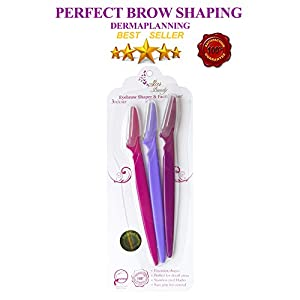 Womens Eyebrow Razor & PERFECT Womens Facial Razor peach fuzz hair removal, Star Beauty US Brand BEST SELLER for Facial Hair Removal & daily dermaplaning womens face razor & eyebrow shaping & trimming