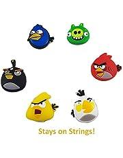 BD Innovation Tennis-Vibrationsdämpfer, lustiges Emoji, 6 Stück