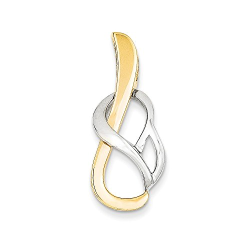 pendants : White-and-yellow-gold 14k Two-Tone Fancy Omega Slide (14k Yellow Slide)
