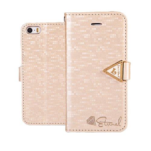 13 opinioni per MOONCASE iPhone SE Case,Custodia in pelle Protettiva Cuoio Portafoglio Flip