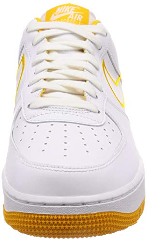 Pictures of Nike Men's Air Force 1 '07 White/ Yellow Ochre 7.5 M US 5
