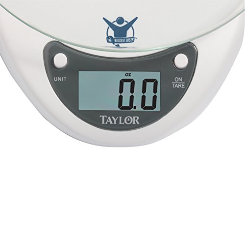 Cool Taylor Precision Products Biggest Loser 6 6 Pound Kitchen Scale With Glass Platform White Home Interior And Landscaping Transignezvosmurscom