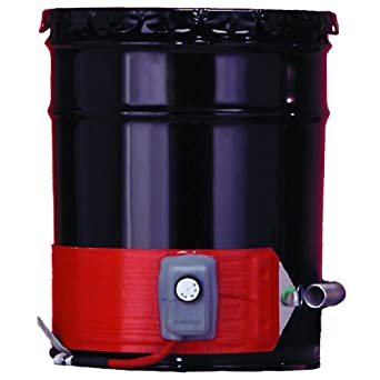 BriskHeat DHCH15 DHCH Extra Heavy Duty Metal Drum Heater, Fits 55-Gallon Drums, 3-Layer Reinforced Silicone Rubber, W x L: 4 x 70-Inch, Diameter: 22.3-Inch, 120VAC
