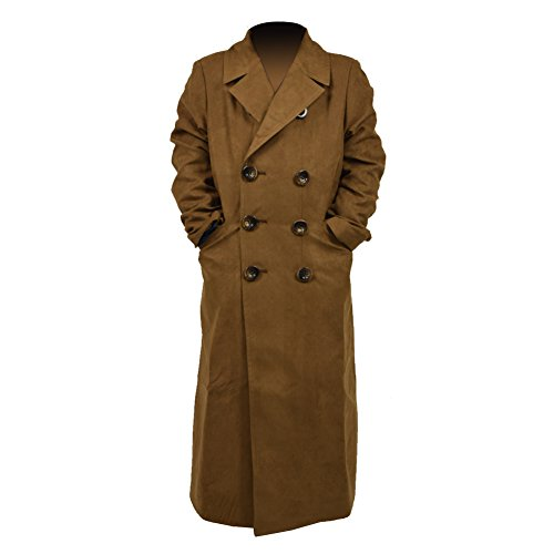 Costume Women For Doctor Halloween Who (Cosdaddy® Brown Long Trench Coat Children Size)