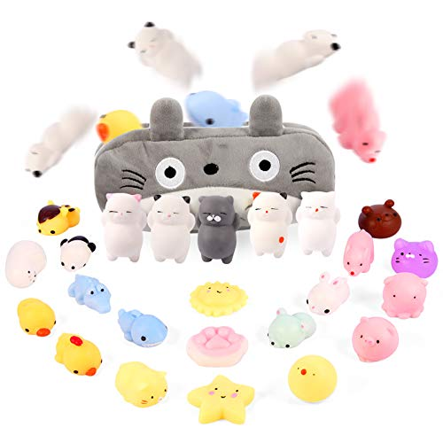 Moj Moj Squishies Easter Egg Fillers Squishy Toys for Kids Preteens Adults 24pcs Mochi Squishies Mini Kawaii Squishies…