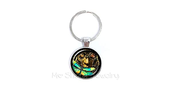 Amazon.com: Stone Wordd Pocket Watch Keychain Fashion Animal ...