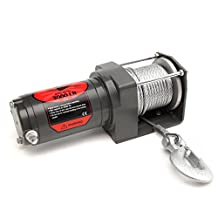 Big Horn 3000 LB ATV & UTV Winch - Includes Mounting Plate, Roller Fairlead, Wired Remote Switch - 3 Year Warranty