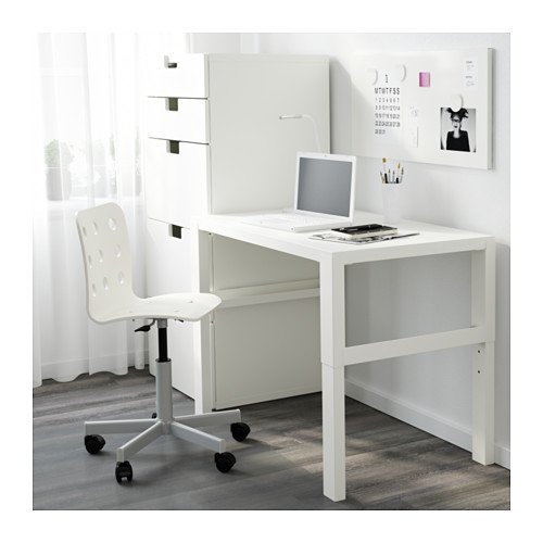 Ikea Childrens Desk, Adjustable (White)