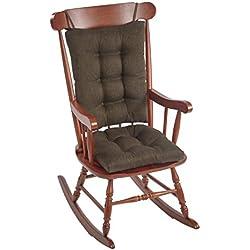 The Gripper Non-Slip Omega Jumbo Rocking Chair Cushions, Chestnut