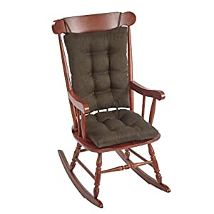 The Gripper Non Slip Omega Jumbo Rocking Chair Cushions Chestnut