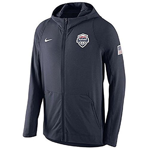 Nike Team Usa Basketball - Nike Men's USA Basketball Navy Hyper Elite Full-Zip Hoodie Large
