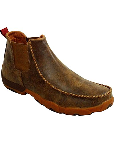 Image of Twisted X Men's Twin Gore Driving Moccasins Bomber - High-Shaft Outdoor Casual Footwear