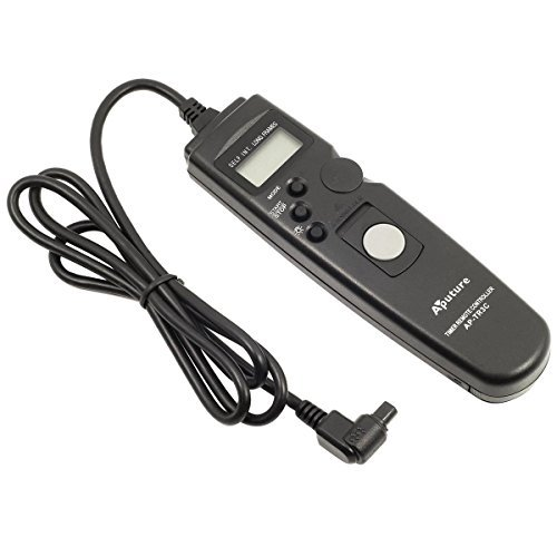 Aputure Timer Camera Remote Control Shutter Cable 3C, for Canon EOS 1D, 1DS Mark II, III, Mark III, IV, 1DC, 1DX, D30, D60, 10D, 20D, 20DA, 30D, 40D, 50D, 5D, 5D Mark II, III, 7D, fully compatible with Canon RS80N3, Inexpensive Intervalometer for Time Lapse