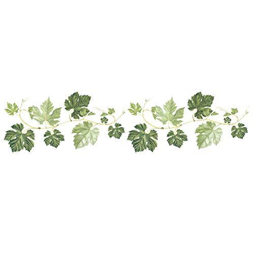 Gigicloud Vinilo adhesivo de pared de plantas verdes, pegatinas de pared extraíbles, de PVC, autoadhesivas, para…