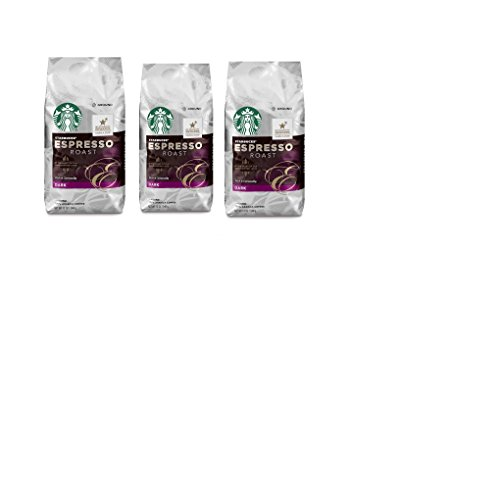 (Starbucks, Dark Roast, Espresso Roast Ground Coffee, 12oz Bag (Pack of 3))