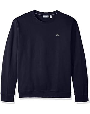 Men's Crewneck Fleece with Textured Rib Trim Sweatshirt