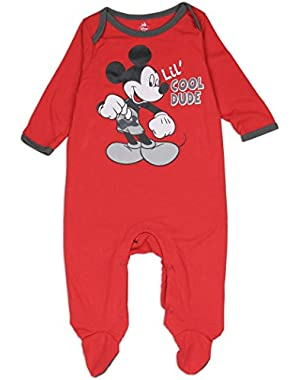 Mickey Mouse Newborn Infant Baby Boys Costume Sleeper Creeper