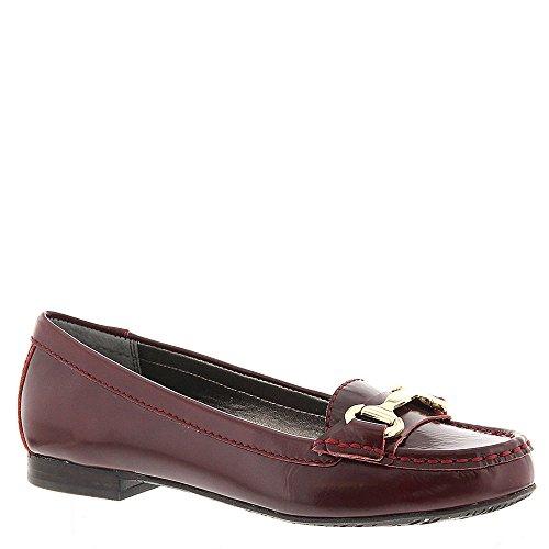 Ros Hommerson Dames Regina Loafers, Bordeaux Leer, 10,5 Ss