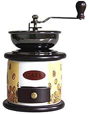 DJDLLZY Koffiezetapparaat, handmatige koffiemolen retro hand koffiemolen opslag compact formaat met kleine lade hand crankmolen voor thuis kantoor reizen