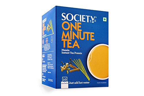 Society One Minute Tea Premix - Masala Flavour, 10 Sachets by Society