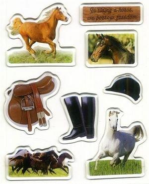 - Horse Sticky Pix Photo Gems Epoxy Stickers