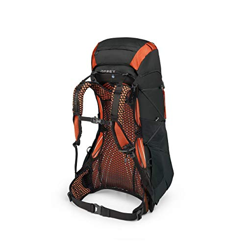 Osprey Packs Exos 48 Backpacking Pack, Blaze Black, Large