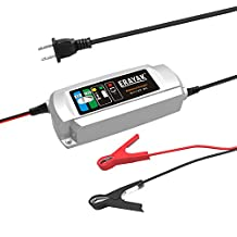 ERAYAK 6V/12V 6A Automatic Car Battery Charger Maintainer for 150Ah Lead-acid Battery,All types of ATV,lawn mower,motorcycle,automotive,marine,RV,power sport,lawn&garden,AGM,gel cell batteries-C9306