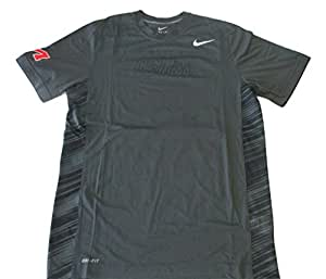 Nike Men's Ole Miss Striped Back T-Shirt 4X-Large Gray