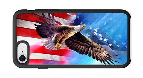 AOFFLY Case for Apple iPhone 7/8 4.7 Inch Only - Spencer Williams - American Eagle Flag - Shock Absorption Protection Phone Cover Case