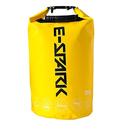 E-Spark Dry Bag, Waterproof bag, Waterproof backpack, Floating Dry Gear Bag for Boating, Canoeing, Kayaking, Sailing, Rafting, Diving, Swimming, Fishing, Snowboarding, Camping and Hiking