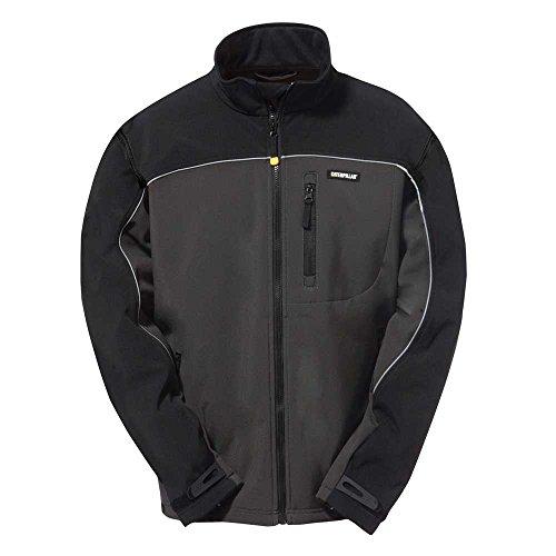 Caterpillar Men's Soft Shell Jacket (Regular and Big & Tall Sizes), Graphite/Black, Large