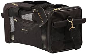Amazon Com Sherpa Delta Pet Carrier Medium Black Soft