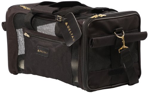 Sherpa Travel Delta Air Lines Approved Pet Carrier, Black, Medium (Frustration Free Packaging)