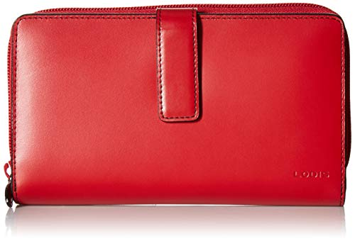 Lodis Audrey RFID Deluxe Checkbook Clutch, Red/Black