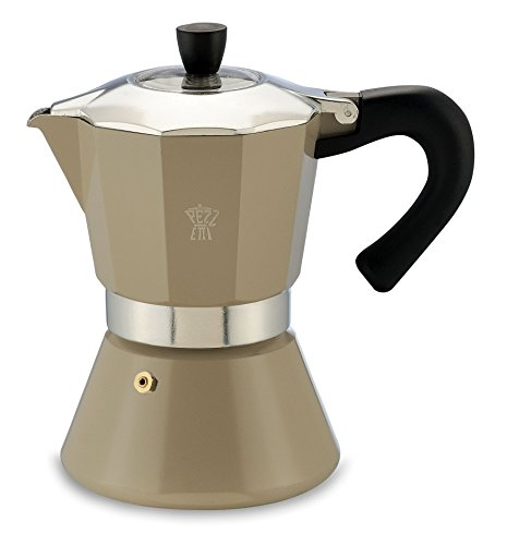 Pezzetti Bellexpress Tan Espresso Coffee Maker 6 Cup