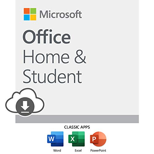 : Microsoft Office Home and Student 2019 Download 1 Person Compatible on Windows 10 and Apple macOS