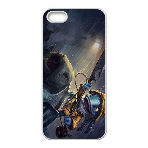 C7D54 League of Legends Pêcheur Fizz I6R5SS coque iPhone 4 4s cellule de cas de téléphone couvercle coque blanche FR2QAU1LQ