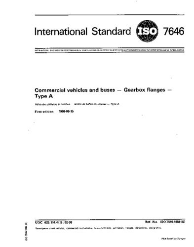 ISO 7646:1986, Commercial vehicles and buses - Gearbox flanges - Type A